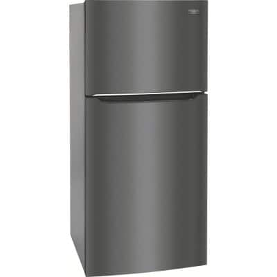 20.0 cu. ft. Top Freezer Refrigerator in Smudge-Proof Black Stainless Steel