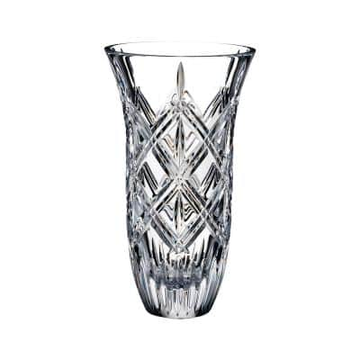 Lacey 9 in. Clear Crystal Vase