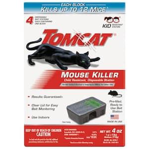 Mouse Killer Child Resistant Disposable Station, 4 Preloaded Stations