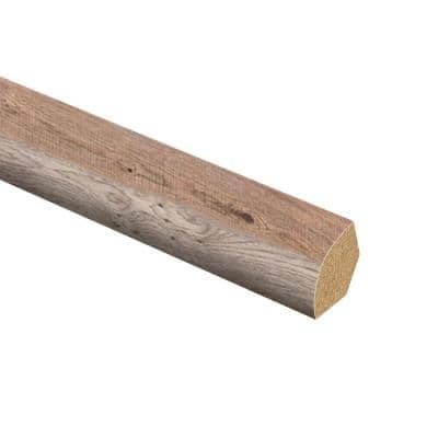 Bishop Manor Oak 5/8 in. Thick x 3/4 in. Wide x 94 in. Length Laminate Quarter Round Molding