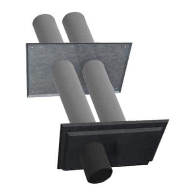 4 in. Dia Polypropylene Twin Pipe Termination Venting for Water Heaters