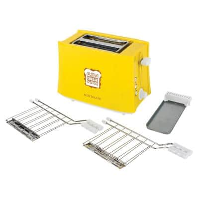 4-Slice Yellow Wide Slot Grilled Cheese Toaster