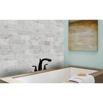 Carrara White 3 in. x 6 in. Honed Floor and Wall Marble Tile (5 sq. ft./Case)
