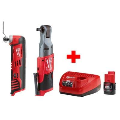 M12 FUEL 12-Volt Lithium-Ion Brushless Cordless 1/2 in. Ratchet & Multi-Tool Combo Kit with (1) 2.0Ah Battery & Charger