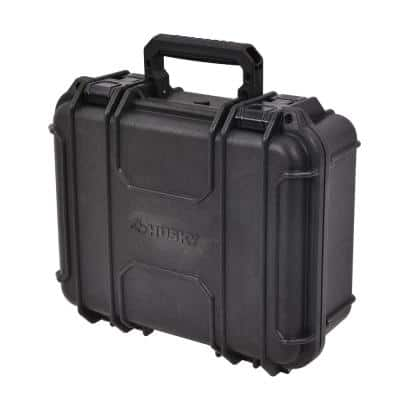 13.5 in. Plastic Tool Box in Black