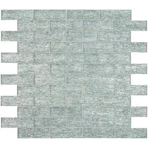 Chilcott Bright Subway 11.81 in. x 11.81 in. x 8 mm Textured Glass Mesh-Mounted Mosaic Tile (9.7 sq. ft./Case)