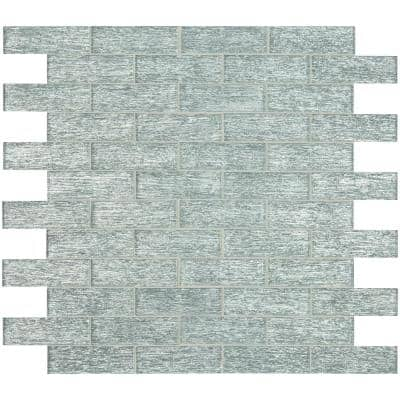 Chilcott Bright Subway 11.81 in. x 11.81 in. x 8mm Textured Glass Mesh-Mounted Mosaic Tile (0.97 sq. ft.)