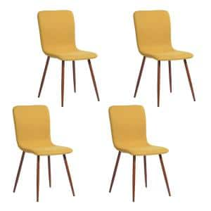Scargill Yellow Fabric Dining Chair (Set of 4)