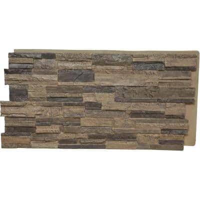 48-5/8 in. x 24-3/4 in. Cascade Stacked Stone, StoneWall Faux Stone Siding Panel