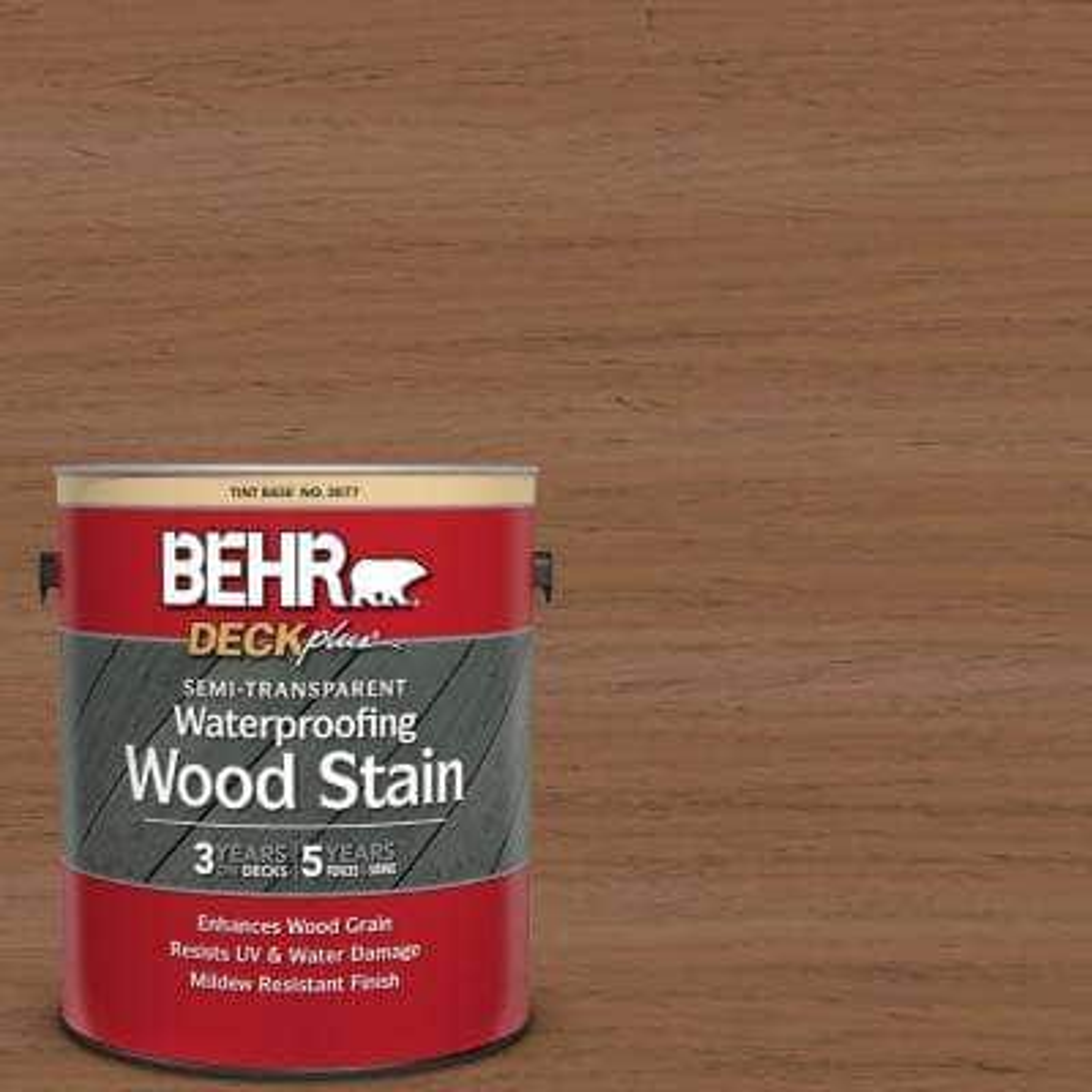 1 gal. #ST-152 Red Cedar Semi-Transparent Waterproofing Exterior Wood Stain