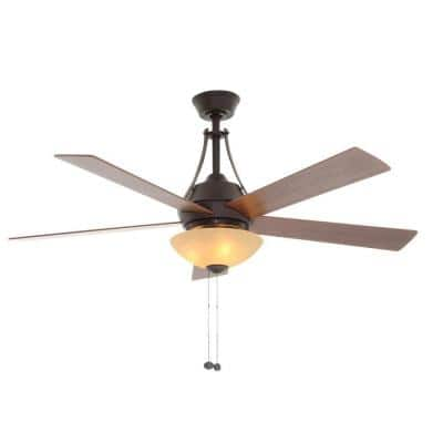 Everbilt 54 in. Oil Rubbed Bronze Smart Ceiling Fan with Light and Remote Works with Google Assistant and Alexa