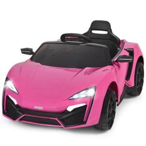 12-Volt Kids Ride On Car 2.4G RC Electric Vehicle with Lights MP3 Openable Doors Pink