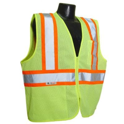 Fire Retardant with Contrast green Mesh Large Safety Vest