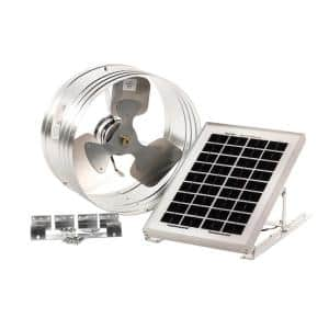 500 CFM Silver Solar Powered Gable Mount Solar Attic Fan