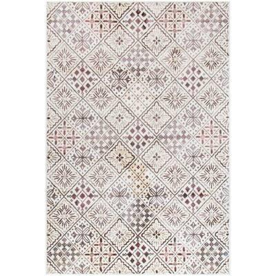 Lupita Microfiber White 5 ft. x 8 ft. Indoor Area Rug