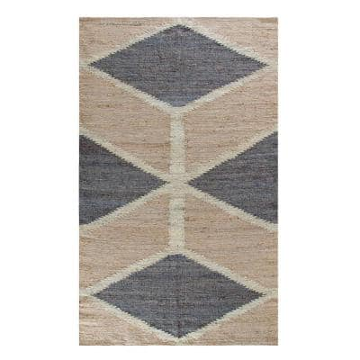 Mountains of The Moon Natural Gray and Ivory 5 ft. x 8 ft. Jute Area Rug