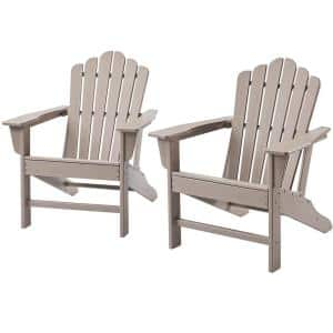 HDPE Plastic Outdoor Patio Reclining Adirondack Chair (2-Pack)