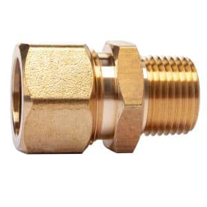 5/8 in. O.D. Comp x 3/8 in. MIP Brass Compression Adapter Fitting (5-Pack)