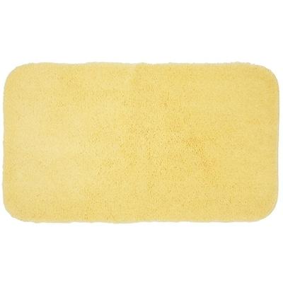 Pure Perfection Butter Cream 20 in. x 34 in. Nylon Machine Washable Bath Mat