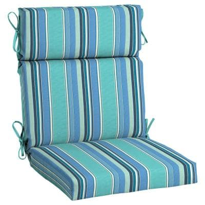 21.5 x 44 Sunbrella Dolce Oasis High Back Outdoor Dining Chair Cushion