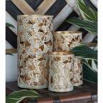 Gold Metal Eclectic Candle Lantern (Set of 3)