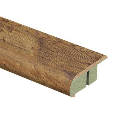 Rustic Brown Oak 3/4 in. Thick x 2-1/8 in. Wide x 94 in. Length Laminate Stair Nose Molding