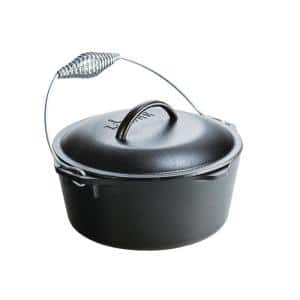 5 Qt. Cast Iron Dutch Oven with Lid and Spiral Bail Handle