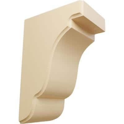 3-1/2 in. x 5 in. x 7-1/2 in. Unfinished Maple Bedford Corbel