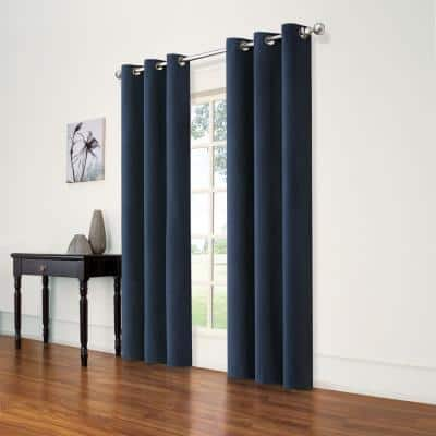 Andora Blackout Window Panel in Indigo - 42 in. W x 84 in. L