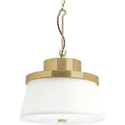 Jeffrey Alan Marks Windbluff 3-Light Brushed Brass Pendant