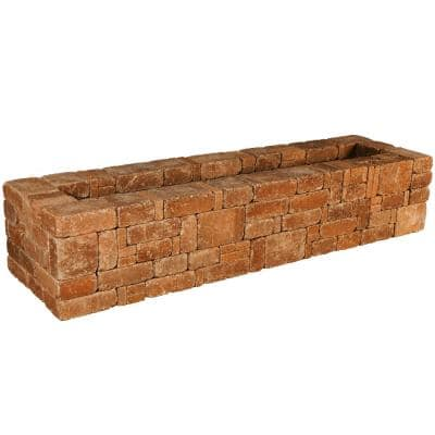RumbleStone 89 in. x 17.5 in. x 24.5 in. Rectangle Concrete Planter Kit in Sierra Blend
