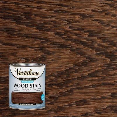1 qt. Classic Dark Walnut Water-Based Interior Wood Stain (2 Pack)