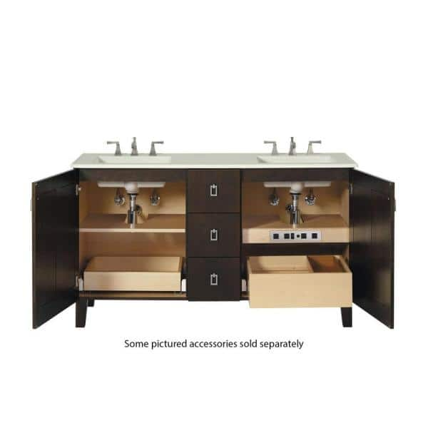 Kohler 18 In Adjustable Shelf With Electrical Outlets For 48 In Tailored Vanities With 2 Doors And 6 Drawers In Natural Maple K 99678 Sh10 1wr The Home Depot
