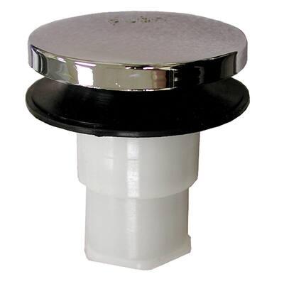5/16 in. Toe Touch Bath Tub Drain Cartridge with Thread, Chrome Plated