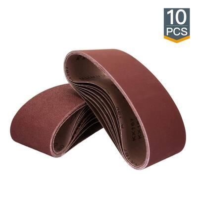 3 in. x 21 in. 100-Grit Aluminum Oxide Sanding Belt (10-Pack)