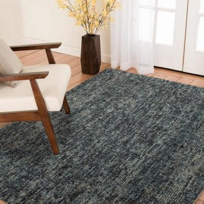 Carson Blue/Grey 3 ft. x 5 ft. Wool Area Rug
