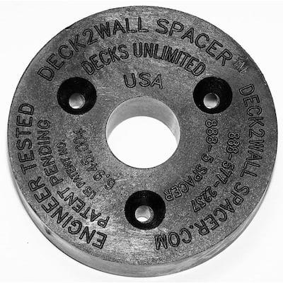 Black Polypropylene Spacer 2-1/2 in. Diameter 5/8 in. Thick 12 Per Bag