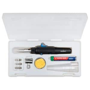 ST500 Cordless Soldering Iron and Micro Torch Kit with 7 Settings, Lead-Free Rosin Core Solder and Case