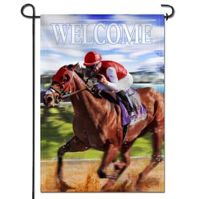 18 in. x 12.5 in. Double Sided Garden Flag The Kentucky Derby Welcome Decorative Spring Summer Garden Flags