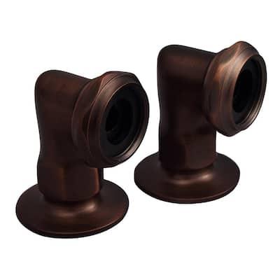 2 in. Brass Deck Mount Coupler in Oil Rubbed Bronze