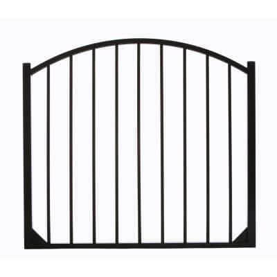 Meriden 4 ft. W x 4.5 ft. H Opening Single Arched Aluminum Fence Gate