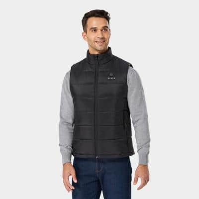 Men's 7.4-Volt Lithium-Ion Lightweight Heated Vest with (1)  5.2 Ah Battery and Charger