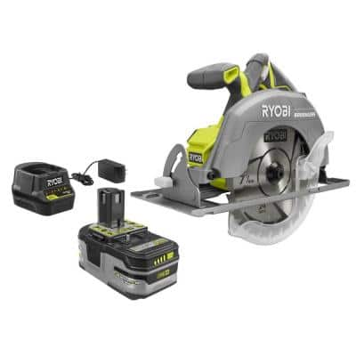 18V ONE+ Brushless Cordless 7-1/4 in. Circular Saw Kit with 4.0 Ah LITHIUM+ HP Battery and 18V Charger