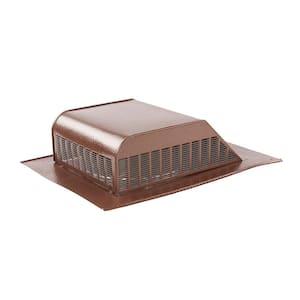 60 sq. in. NFA Aluminum Slant Back Roof Louver Static Vent in Brown (Carton of 6)