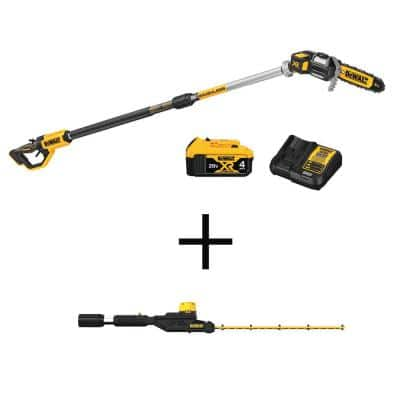 8 in. 20-Volt MAX Lithium-Ion Electric Cordless Pole Saw Kit w/ 20-Volt MAX Pole Hedge Trimmer Head (Trimmer Head Only)