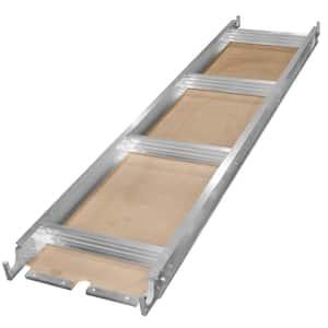 7 ft. x 19 in. Aluminum Frame Wooden Walk Board