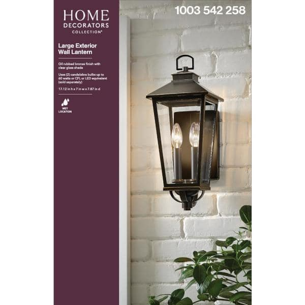 Home Decorators Collection Williamsburg, Outdoor Light Sconce