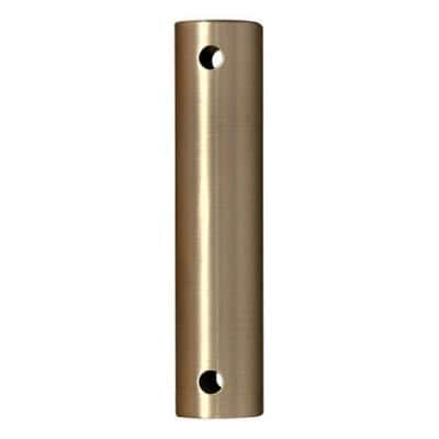 12 in. Brushed Satin Brass Stainless Steel Extension Downrod