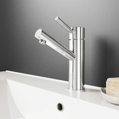 Noma Single-Handle Single Hole Bathroom Faucet in Chrome