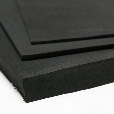 Closed Cell Sponge Rubber Neoprene 1/2 in. x 39 in. x 78 in. Black Foam Rubber Sheet